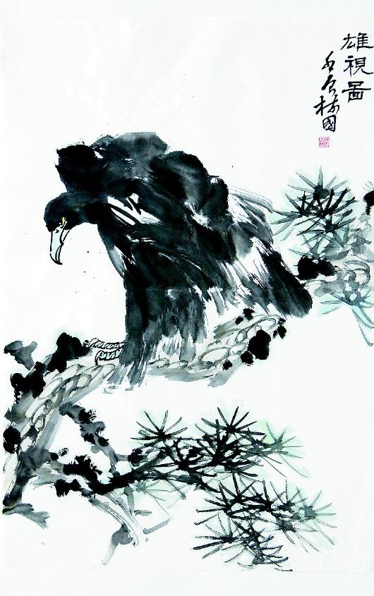杨树国画作欣赏